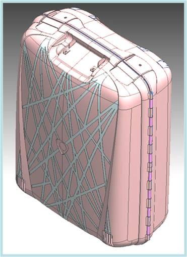 25% Gewichtsreduzierung eines PP-Koffers